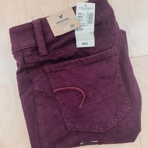 ☀️🆕 American Eagle Cranberry Jeggings